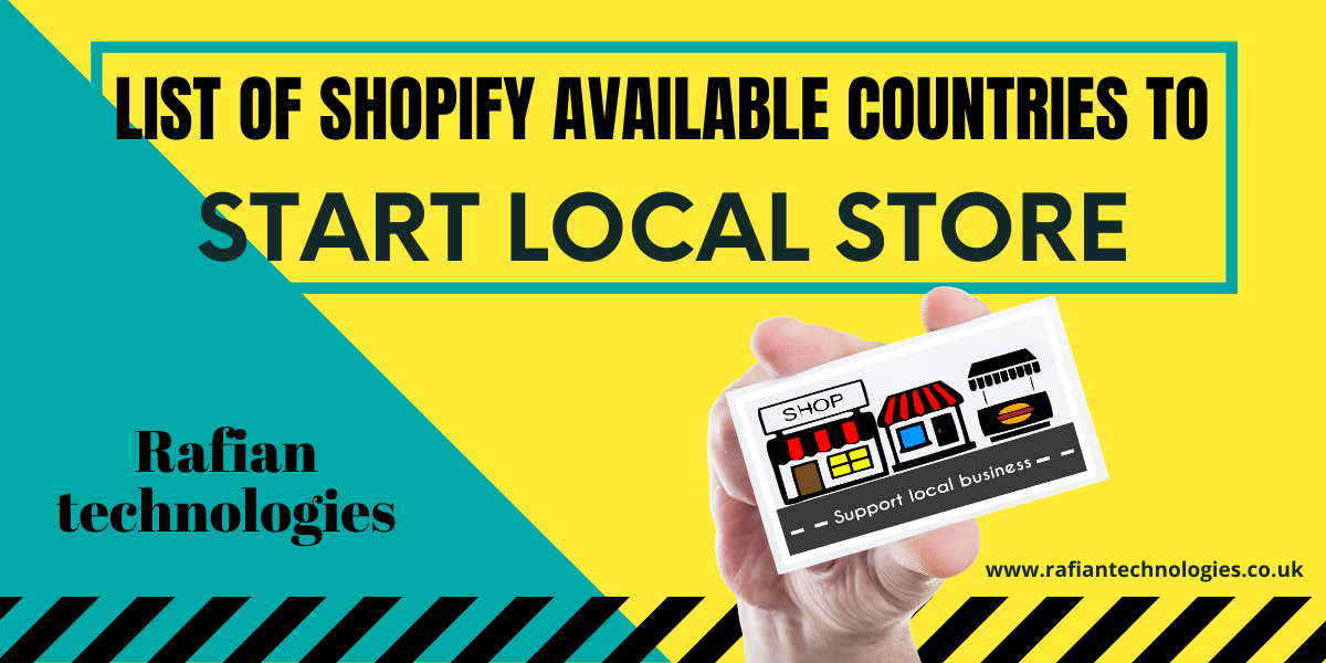 List of Shopify Available Countries To Start Local Store