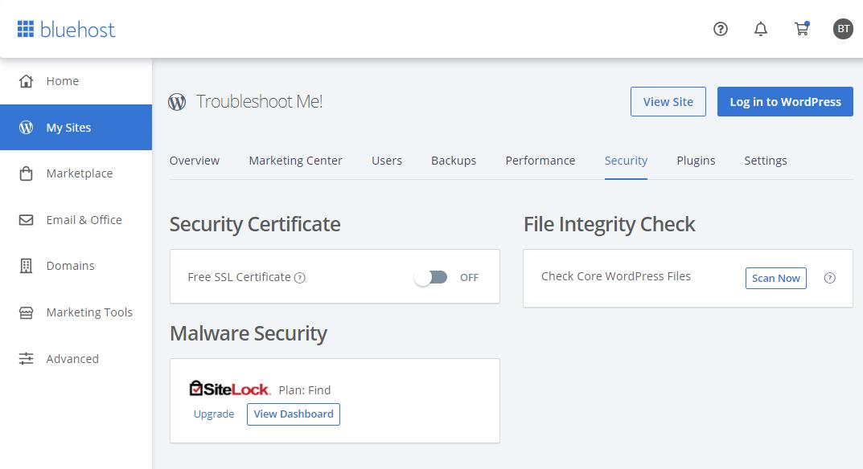 Bluehost SSL Certificate