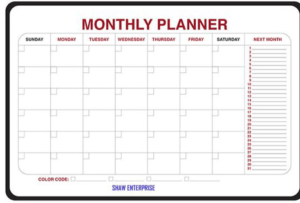 Monthly planner, Shopify best selling product