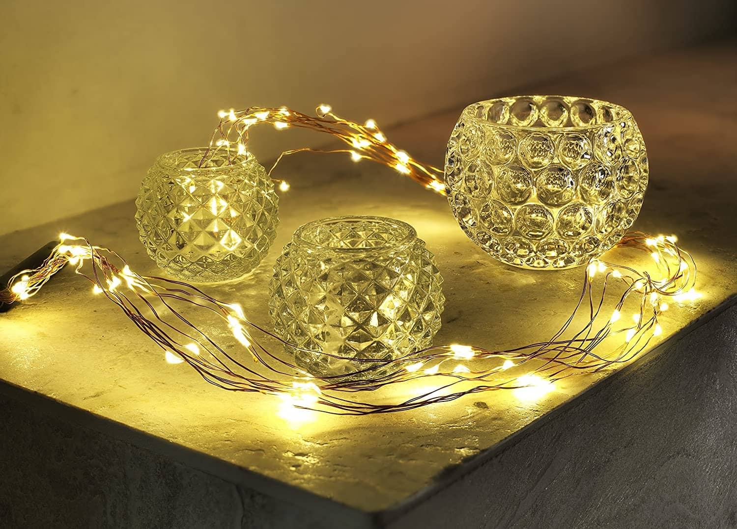 Naked wire fairy lights