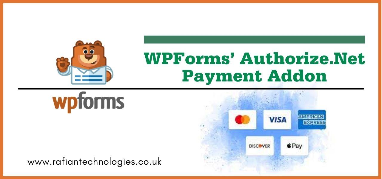 WPforms authorize.net addon