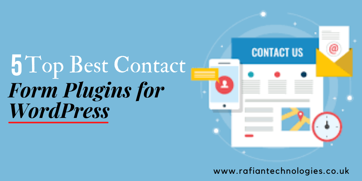 Top Best Contact Form Plugins for WordPress by rafian technologies